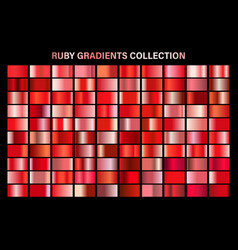 red ruglossy gradient metal foil texture vector image