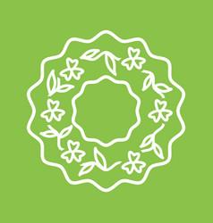 Roses wreath vector