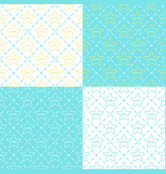 seamless pattern with buttons in the shape of star vector image