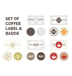 set coffee label vector image