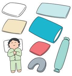 Set of pillow vector