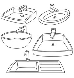 set of sink vector image