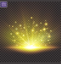 Set shining star sun particles and sparks vector