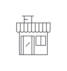 shop building thin line icon concept shop vector image