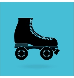 Skate retro design vector