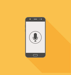 Smartphone with voice assistant voice recognition vector