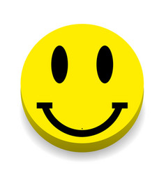 smiley on a white background with shadow vector image