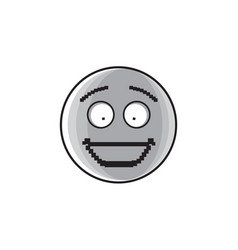 smiling cartoon face positive people emotion icon vector image