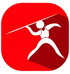 Sport logo design for javelin vector