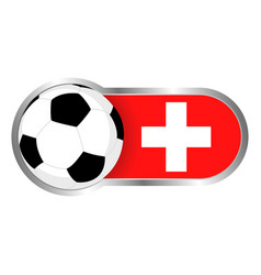 switzerland soccer icon vector image
