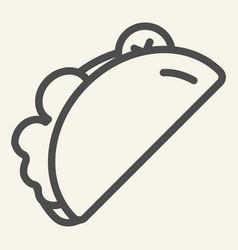 Taco line icon burrito vector