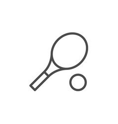 tennis inventory line outline icon vector image