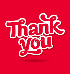 thank you card image vector image