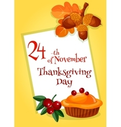 Thanksgiving Day greeting card design vector