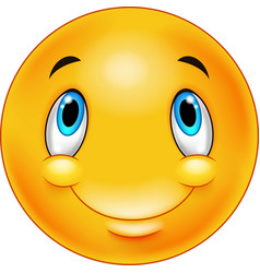 thinking emoticon smiley vector image