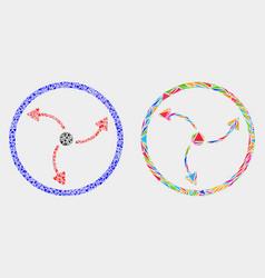 Turbine rotation mosaic icon triangle vector