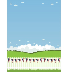 usa picket fence vector image