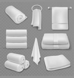 white towel beautiful fresh hotel bathroom vector image