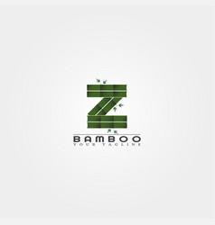 Z letter bamboo logo template creative design vector