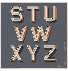 Alphabet retro color vector