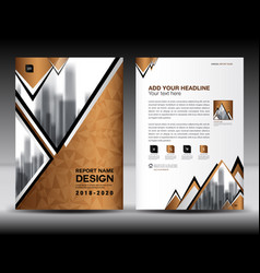 business brochure flyer template in a4 size vector image vector image