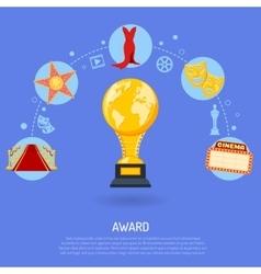 Cinema Award Concept vector image vector image