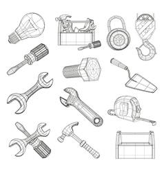 Drawing tools set vector image