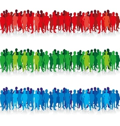 people in a row vector image vector image