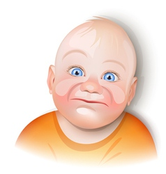 baby smiling vector image