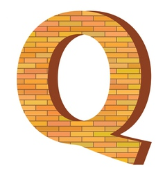 brick letter Q vector image vector image