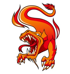 Fire Dragon vector image vector image