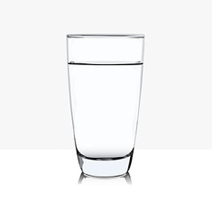 Glass of water in vector image