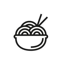 noodle symbol icon on white background vector image