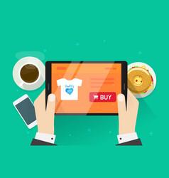 online shopping flat cartoon vector image vector image