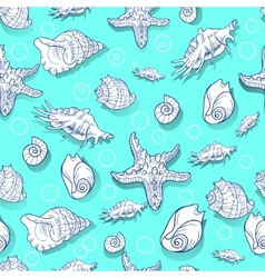 pattern seashell vector image