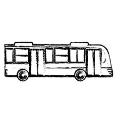 bus transport vehicle sketch vector image vector image