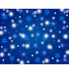 Christmas shiny blue background vector image vector image