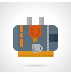 Coffee machine abstract flat icon vector image