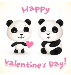 Cute little pangas love vector image vector image