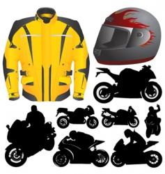 race motorcycle vector image vector image
