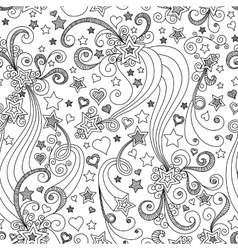 seamless black and white star pattern vector image vector image