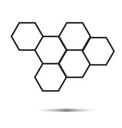 honeycomb honey icon on white background vector image