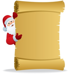 santa with scroll vector image vector image