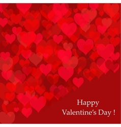 Abstract background of hearts Valentines day card vector image