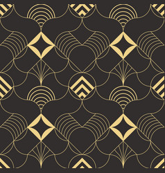 Abstract wave geometric seamless pattern vector