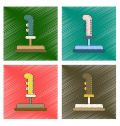 Assembly flat shading style icon game joystick vector