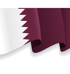 Background with waving Qatar Flag vector