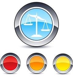 Balance round button vector image