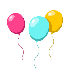 Balloons colorful ballon set isolated on white vector