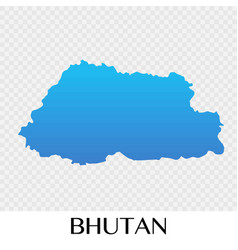 bhutan map in asia continent design vector image